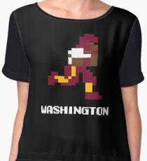 8 bit Washington Football 1 Chiffon Top