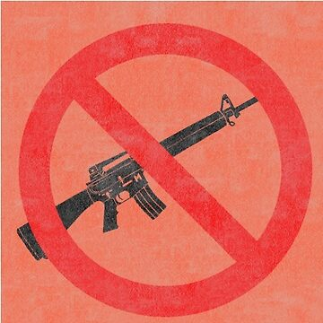 Just Say No to Guns Sticker AR15 Textured - Orange by Oldskool0482