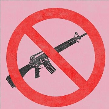 Just Say No to Guns Sticker AR15 Textured - Pink by Oldskool0482
