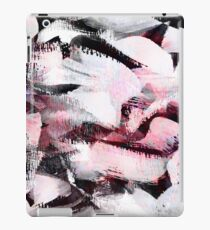 pastel pink and black and white abstract painting pattern, oil and acrilic paint iPad Case/Skin
