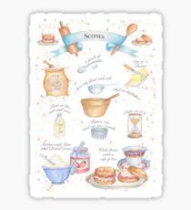Illustrated Scone Recipe Sticker