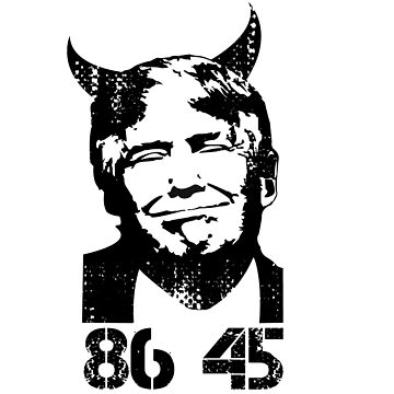 Anti Trump USA President Devil 45 Gift democrats by Donsanoj