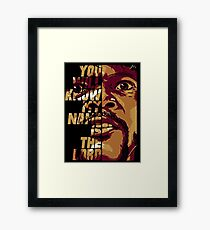 Pulp Fiction - Jules Framed Print