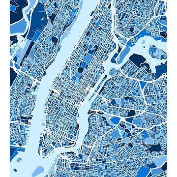 New York City Street Map by ArtPrints
