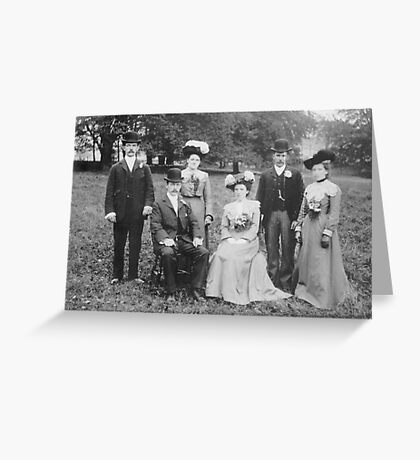 A Country Wedding Party 1903 - Sherburn,North Yorkshire. Greeting Card