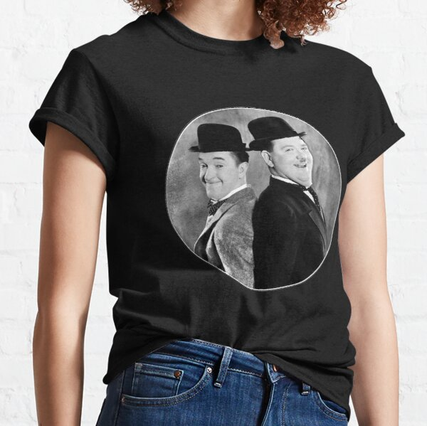 Laurel and Hardy, comedy double act Classic T-Shirt