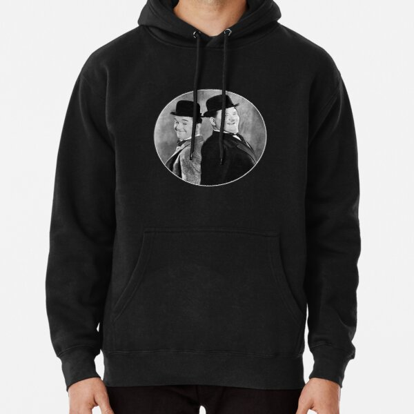 Laurel and Hardy, comedy double act Pullover Hoodie