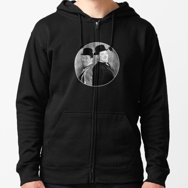 Laurel and Hardy, comedy double act Zipped Hoodie