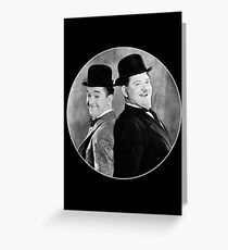 Laurel and Hardy, comedy double act Greeting Card