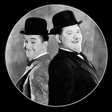 Laurel and Hardy, comedy double act by Ice-Tees
