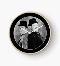 Laurel and Hardy, comedy double act Clock