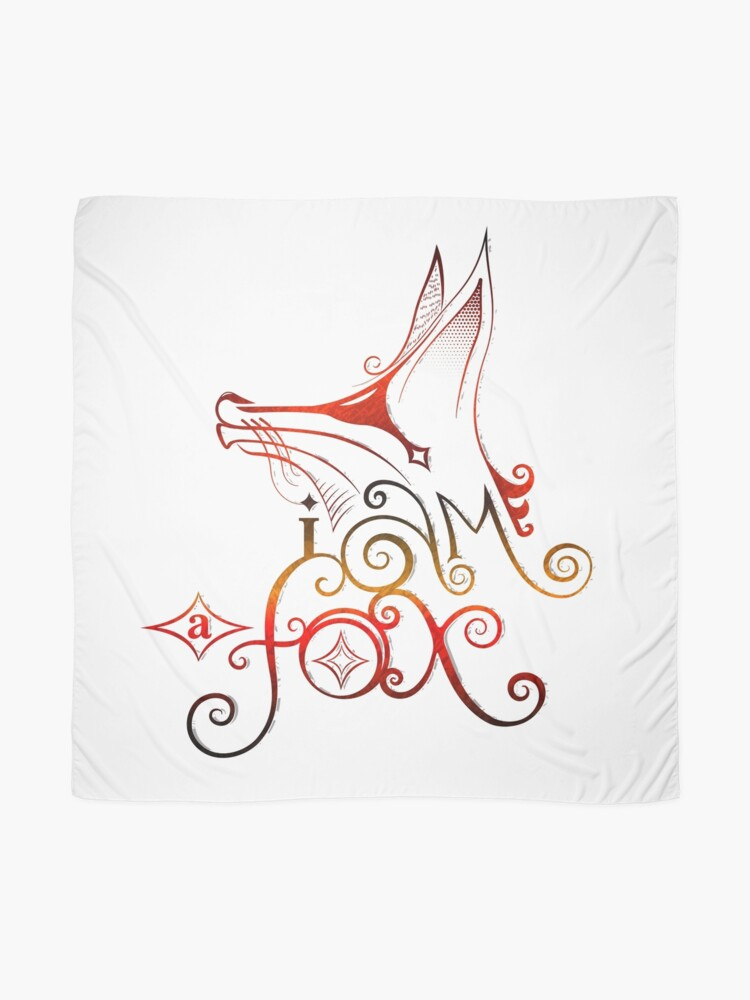 Alternate view of I am a Fox Scarf