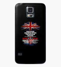 Briten gewachsen mit kroatischem Wurzel-Geschenk für Kroatisch von Kroatien - Kroatien-Flagge in den Wurzeln Hülle & Klebefolie für Samsung Galaxy
