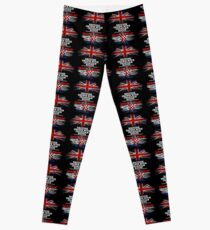 British Grown With Croatian Roots Gift For Croatian From Croatia - Croatia Flag in Roots Leggings