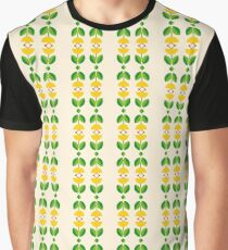 romantic peace happy leaves seamless colorful repeat pattern Graphic T-Shirt