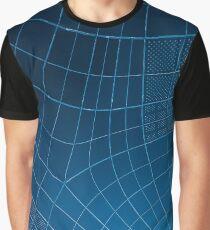 Blue Geometric Print Graphic T-Shirt