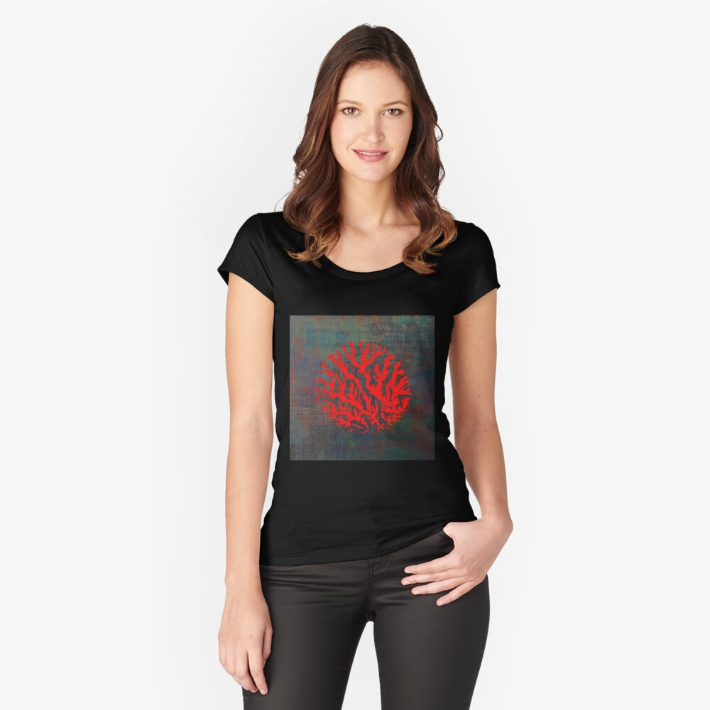 Abstract sunrise Fitted Scoop T-Shirt