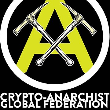 Crypto Anarchist Sticker Bitcoin Litecoin Peercoin Worldcoin Primecoin by psmgop