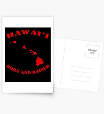 Hawai'i Born and Raised Red Ink Variant by Hawaii Nei All Day Postcards