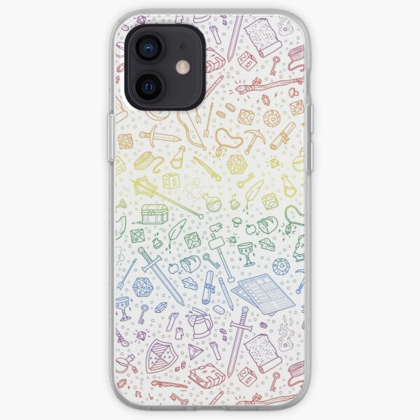 Tabletop RPG Pattern – Rainbow iPhone Soft Case
