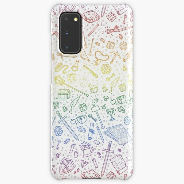 Tabletop RPG Pattern – Rainbow Samsung Galaxy Snap Case