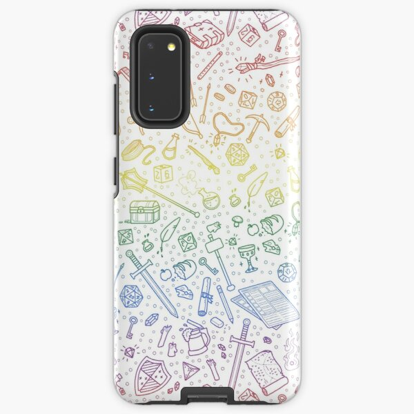 Tabletop RPG Pattern – Rainbow Samsung Galaxy Tough Case