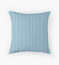 Blue Purple Checks Floor Pillow