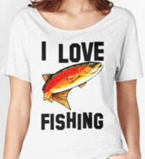 I Love Fishing Yellowstone Cutthroat Trout Rocky Mountains Fish Char Jackie Carpenter Gift Father Dad Husband Wife Best Seller Women's Relaxed Fit T-Shirt