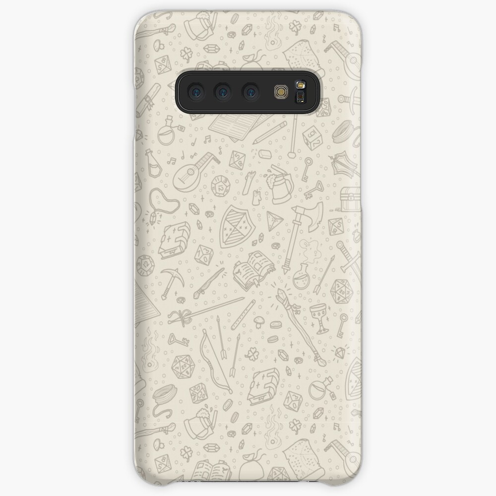 Tabletop RPG Pattern -Tan Flat Case & Skin for Samsung Galaxy