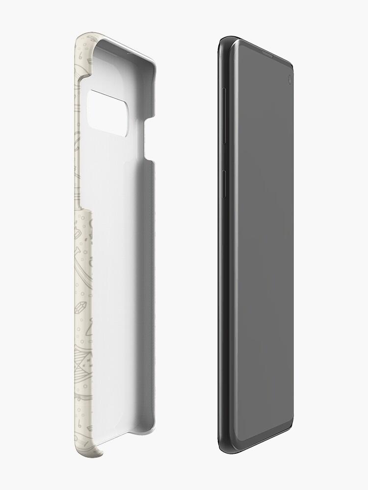 Alternate view of Tabletop RPG Pattern -Tan Flat Case & Skin for Samsung Galaxy