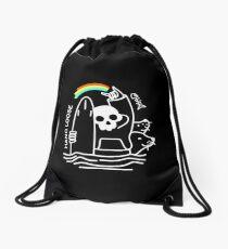 Hang Loose Death Surfer Drawstring Bag