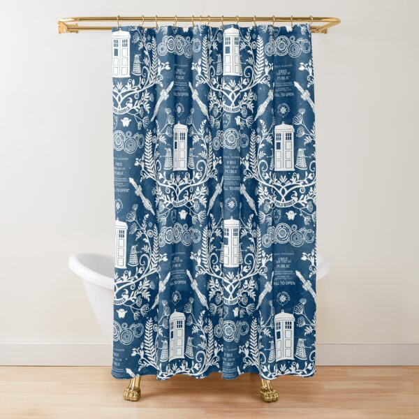 Who Damask Shower Curtain