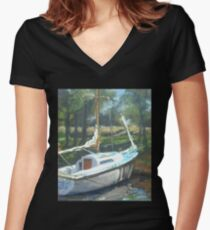 Waiting for Frank T Women's Fitted V-Neck T-Shirt