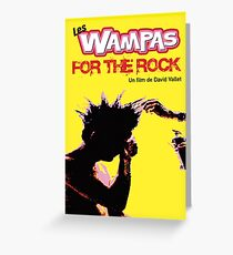 Poster THE WAMPAS FOR THE ROCK Greeting Card