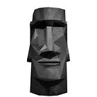 Moai Head in Low Poly Stone (White Background Version) by Sonof-Deair