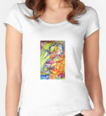 Pinkeye abstract 2 Women's Fitted Scoop T-Shirt