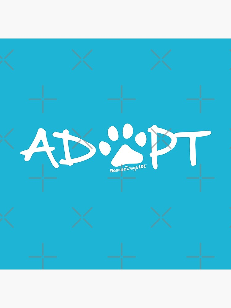 Adopt Dog Paw Print (white print) by rescuedogs101