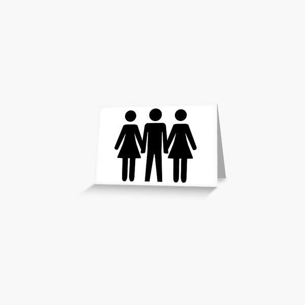 Threesome Symbol Greeting Card