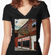 Bossier City Meets Lebanon, Missouri Fitted V-Neck T-Shirt