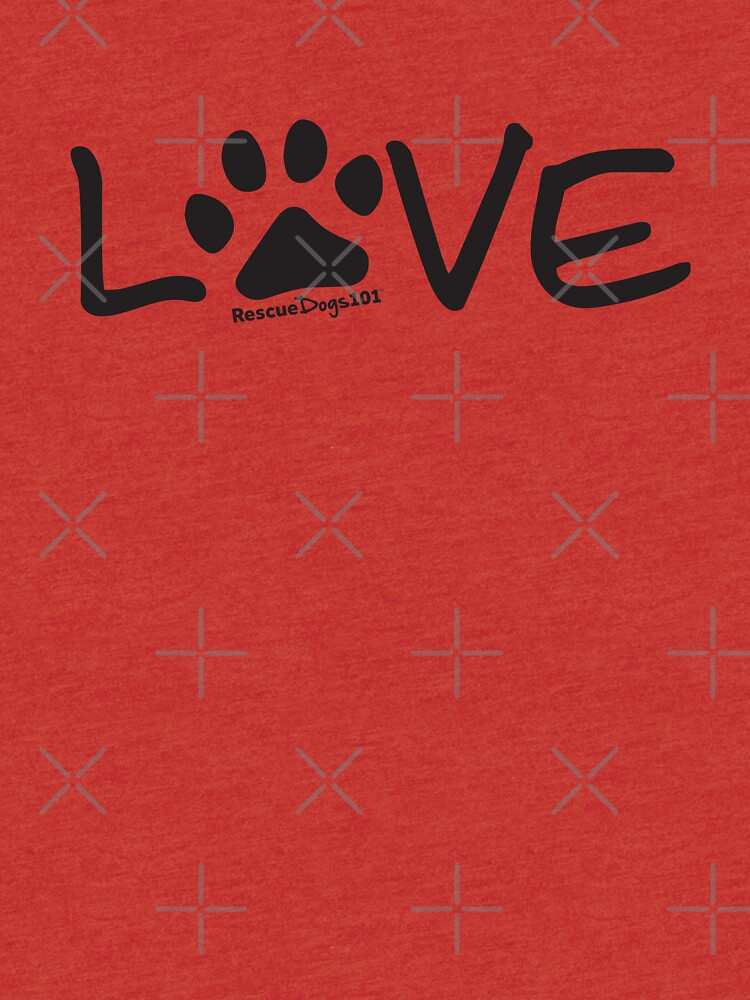 Love Dog Paw Print by rescuedogs101