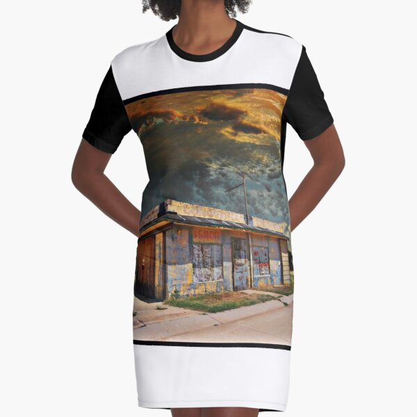 Jackson Mississippi Sky looms over McLean Texas Graphic T-Shirt Dress