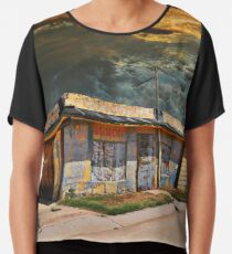 Jackson Mississippi Sky looms over McLean Texas Chiffon Top