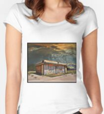 Jackson Mississippi Sky looms over McLean Texas Fitted Scoop T-Shirt