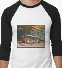 Jackson Mississippi Sky looms over McLean Texas Baseball ¾ Sleeve T-Shirt