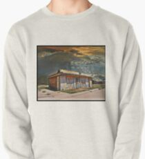 Jackson Mississippi Sky looms over McLean Texas Pullover Sweatshirt