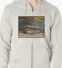 Jackson Mississippi Sky looms over McLean Texas Zipped Hoodie