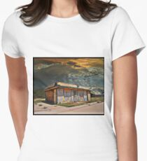 Jackson Mississippi Sky looms over McLean Texas Fitted T-Shirt