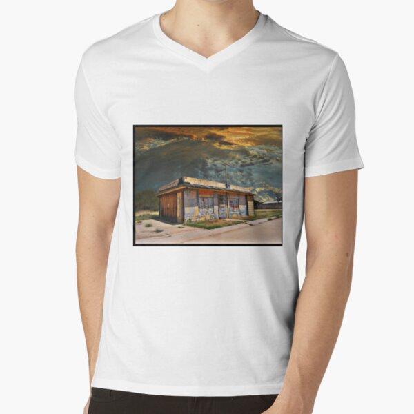 Jackson Mississippi Sky looms over McLean Texas V-Neck T-Shirt