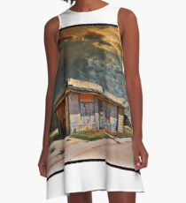 Jackson Mississippi Sky looms over McLean Texas A-Line Dress