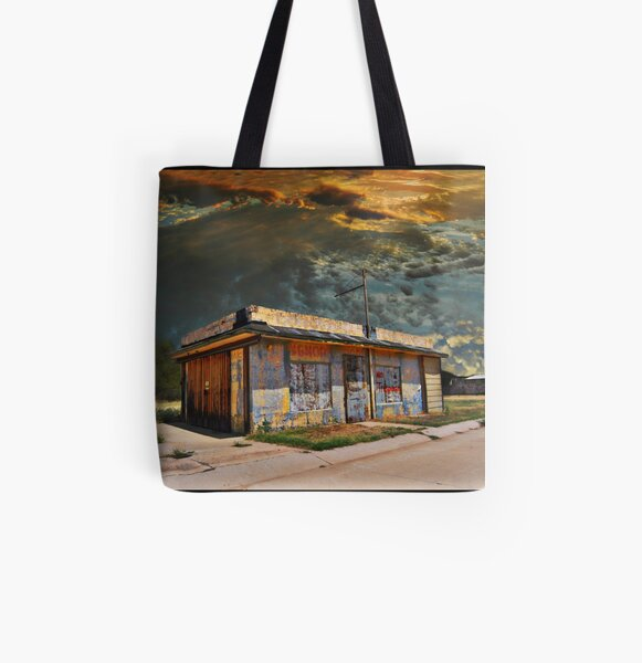 Jackson Mississippi Sky looms over McLean Texas All Over Print Tote Bag